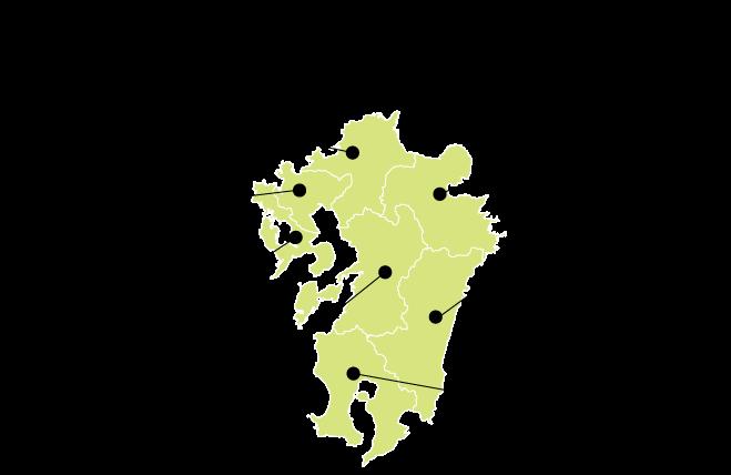 熊本県下 対応エリア 2019年施工実績