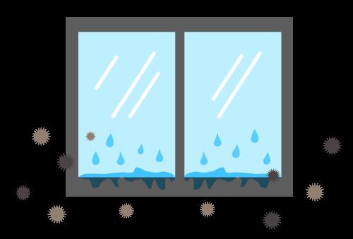 窓やサッシの周りにびっしりと付く結露にお悩みではありませんか