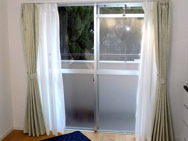 施工事例 プラスト+シングルガラス12ミリ 福岡市西区 K様 施工前