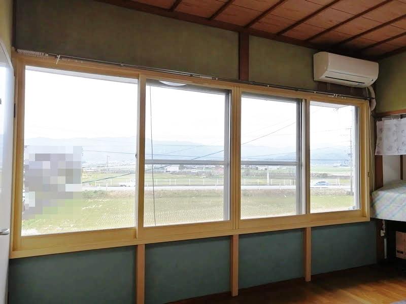 施工例 プラスト4枚建て+シングルガラス12ミリ 福岡県うきは市 K様 施工後