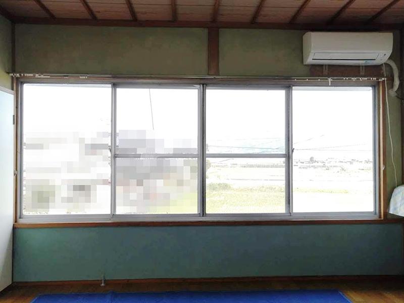 施工例 プラスト4枚建て+シングルガラス12ミリ 福岡県うきは市 K様 施工前